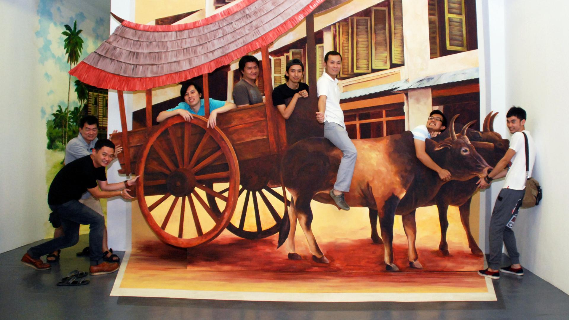 Ride The Bullock Cart Penang 3d Trick Art Museum